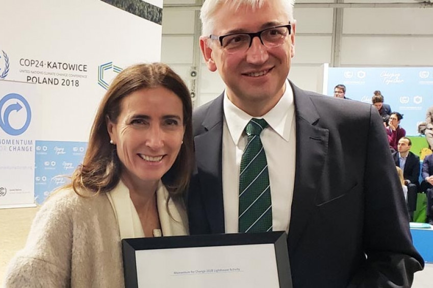 ​Aguas Andinas' biofactories in Chile wins a UN award for promoting global health
